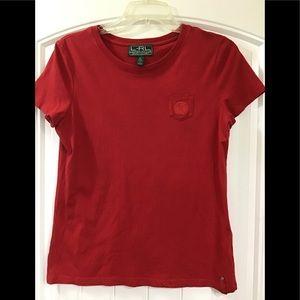 Ladies Lauren Active Ralph Lauren red shirt